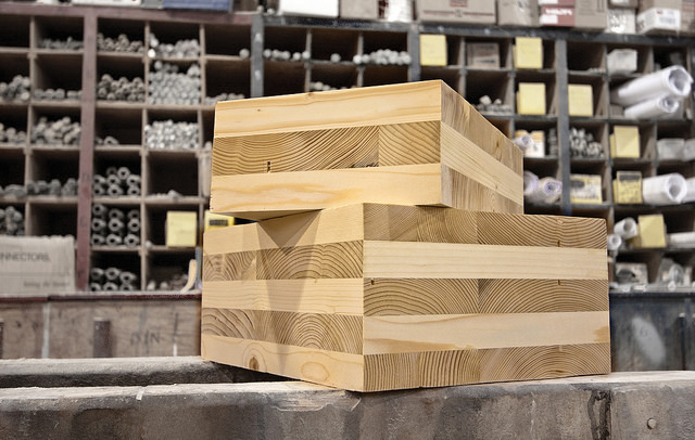 Cross Laminated Timber. Photo by the  Oregon Department of Forestry ,  CC BY 2.0