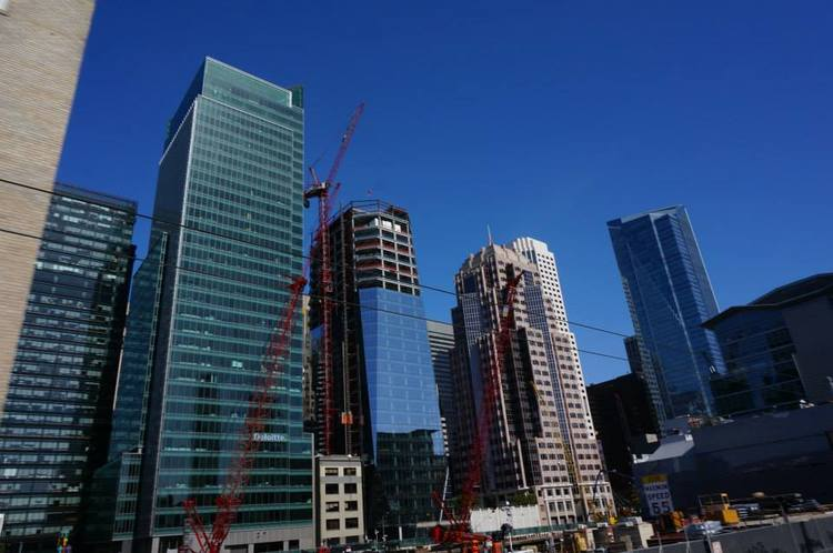 Millennium Tower pictured far right