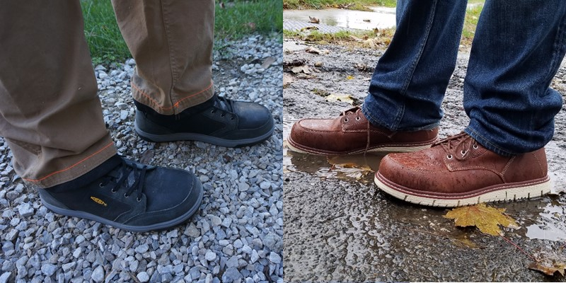 Keen Utility Redding (left) and San Jose (right) Boots