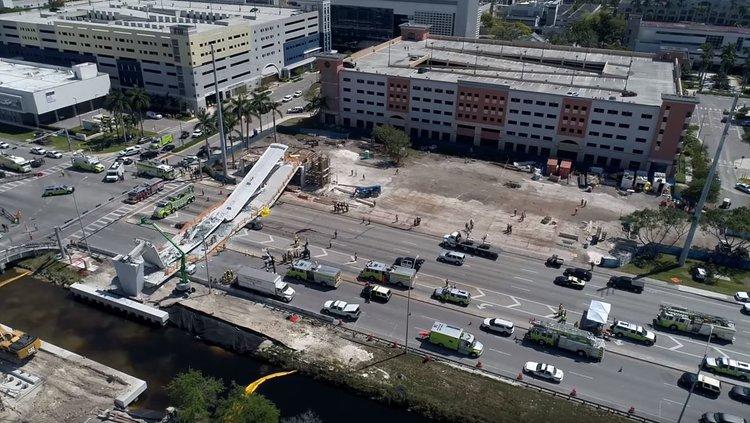 The FIU Bridge Collapse,  drone video by Pedro Portal, Miami Herald staff