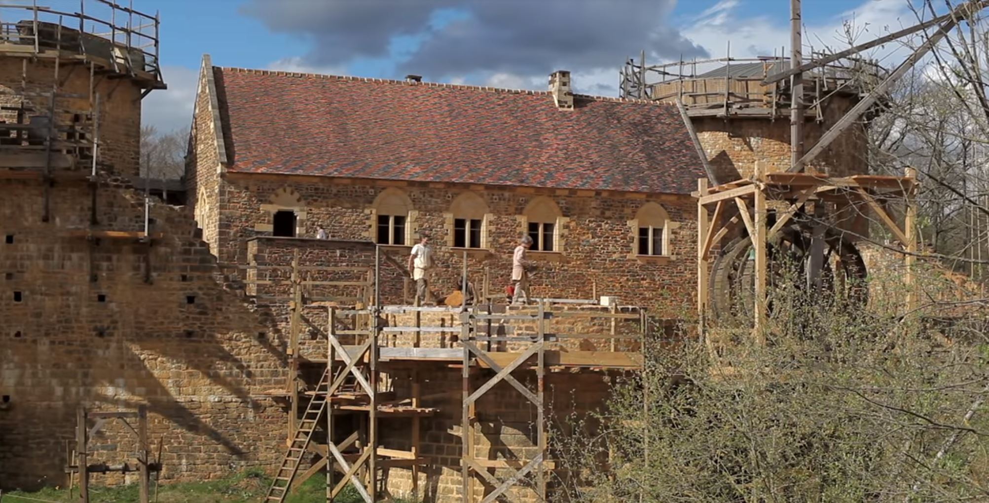 Guedelon Castle,  via YouTube