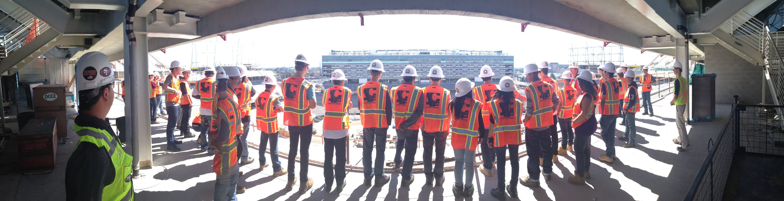 ACE Mentor students on a construction site tour in California. Photo courtesy of ACE