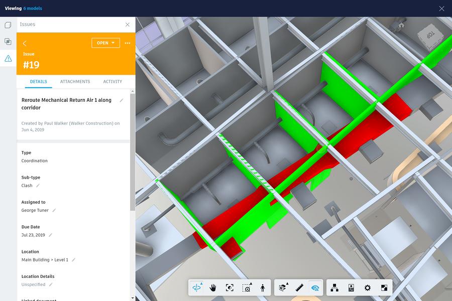 issues side panel screenshot, via Autodesk