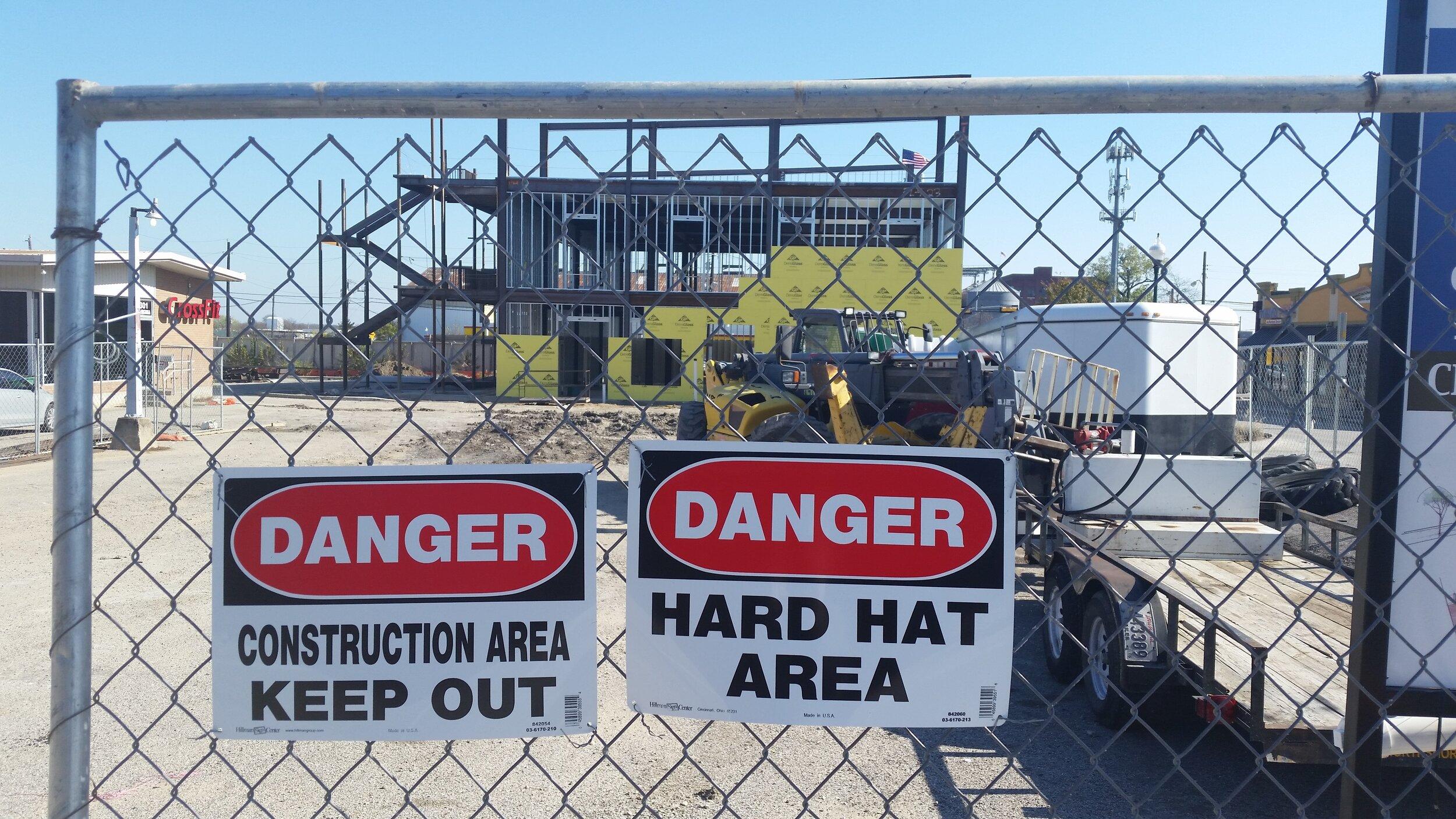 Danger Hard Hat Area