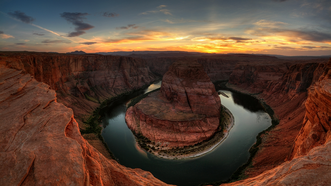 Last light at the bend