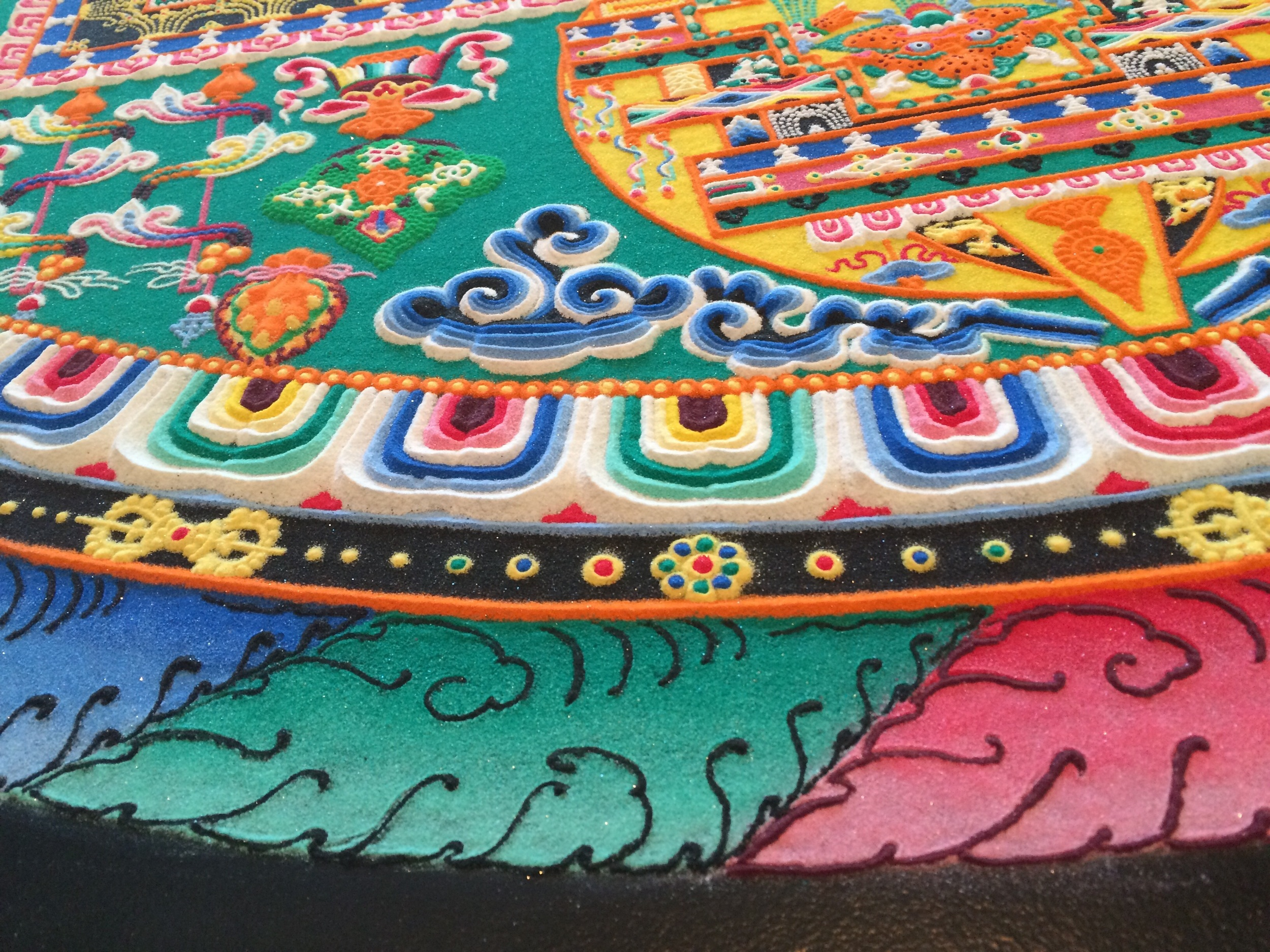 The intricacies of a Tibetan Sand Mandala--complex, masterful, and with multitudes of individual aspects making a complete entity.