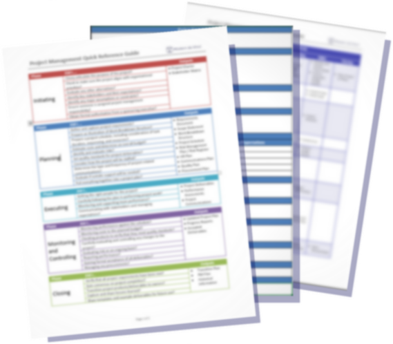 Project Management Toolkit - Download the Project Management Toolkit with a quick reference guide and 7 templates you can use to kick off, manage, and close out successful projects.