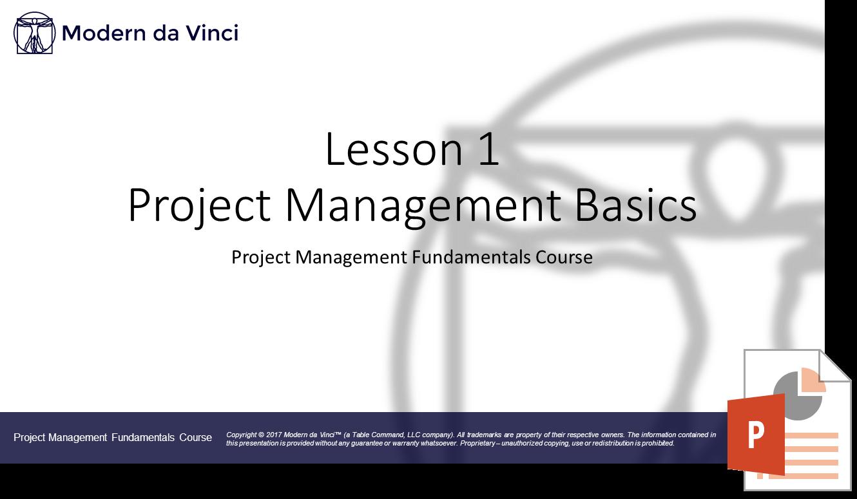 Project Management Basics Slides - Project Management Fundamentals Course