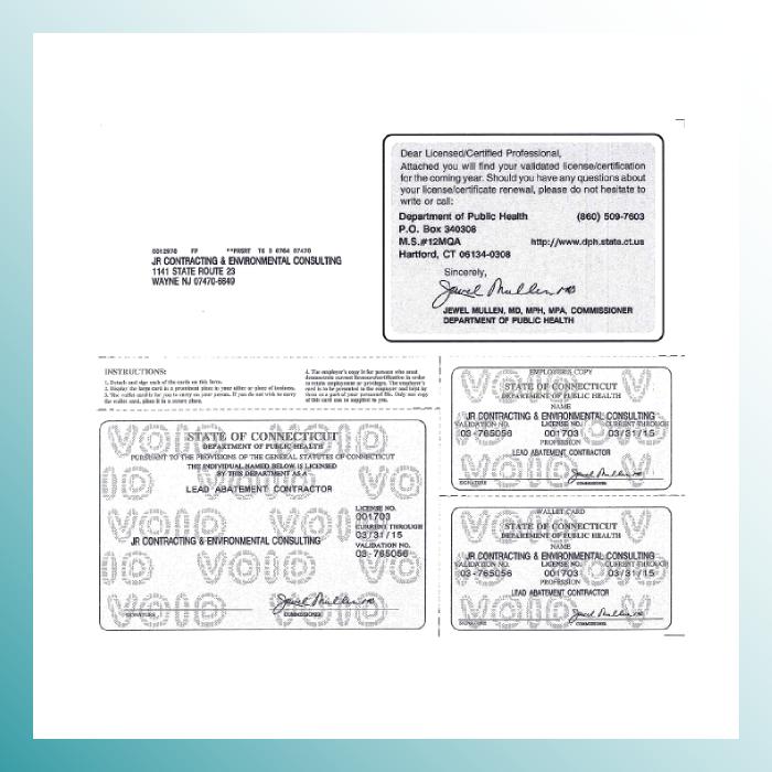 Connecticut Lead License