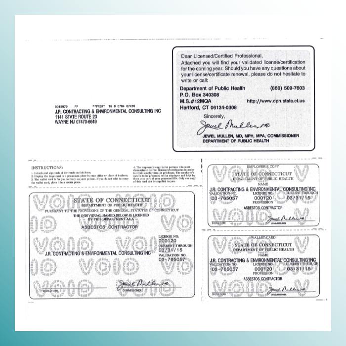 Connecticut Asbestos License