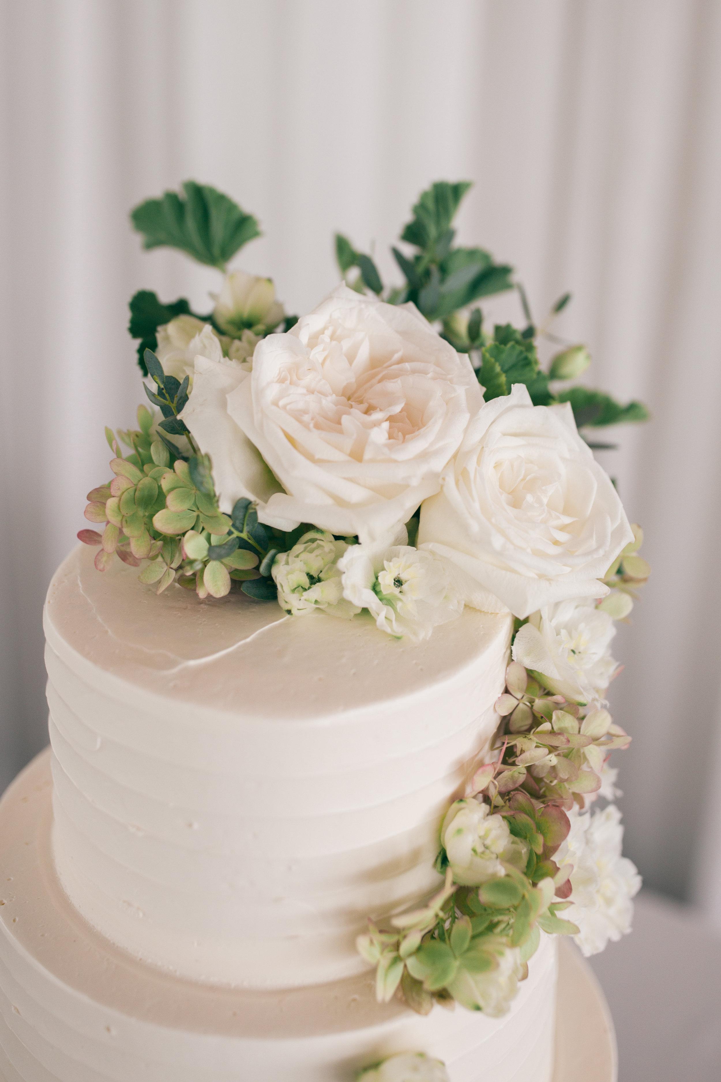 Geranium and Roses cake, Belle Mer