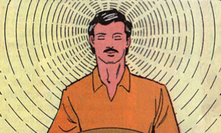 From the  1997  comic book, produced by the Yoga Institute in Santa Cruz