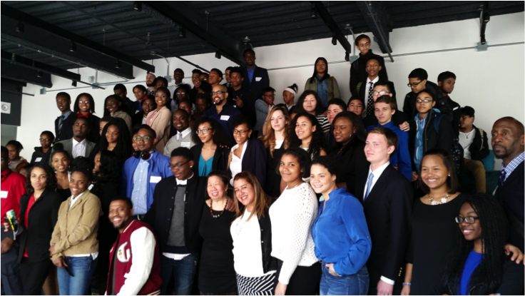Students from IAM and MECA attending the 2016 Career Day event (panels and speed networking) at Initiative NYC.
