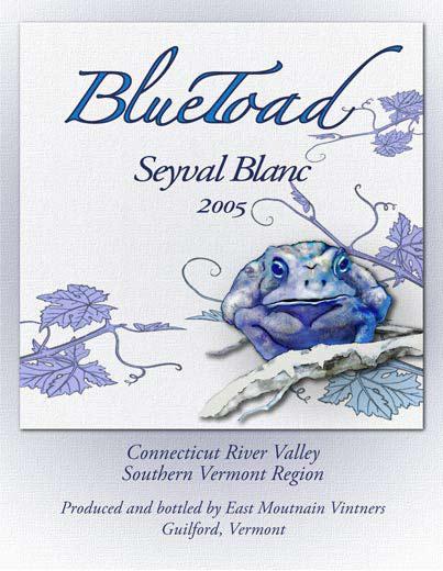 BlueToad Wine Label  Illustration and design