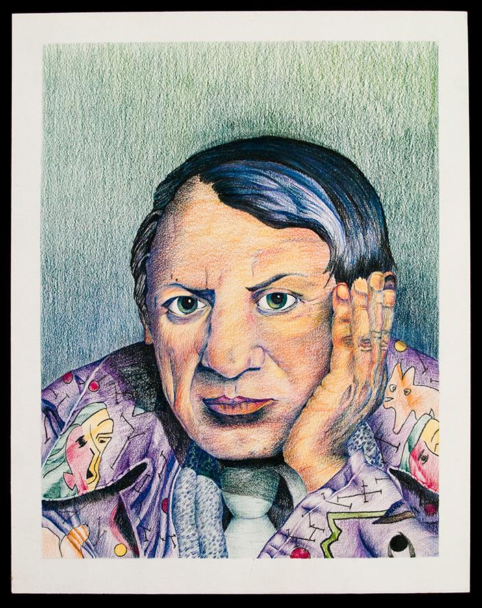 """""""Van Gogh""""  color pencil drawing"""