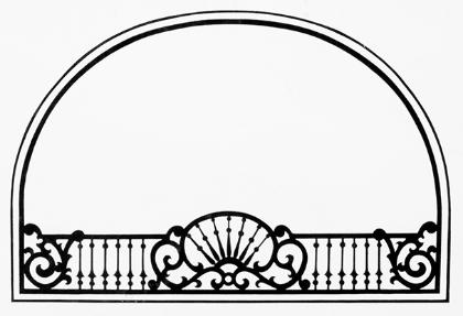 Victorian Homes illustration/header  pen and ink