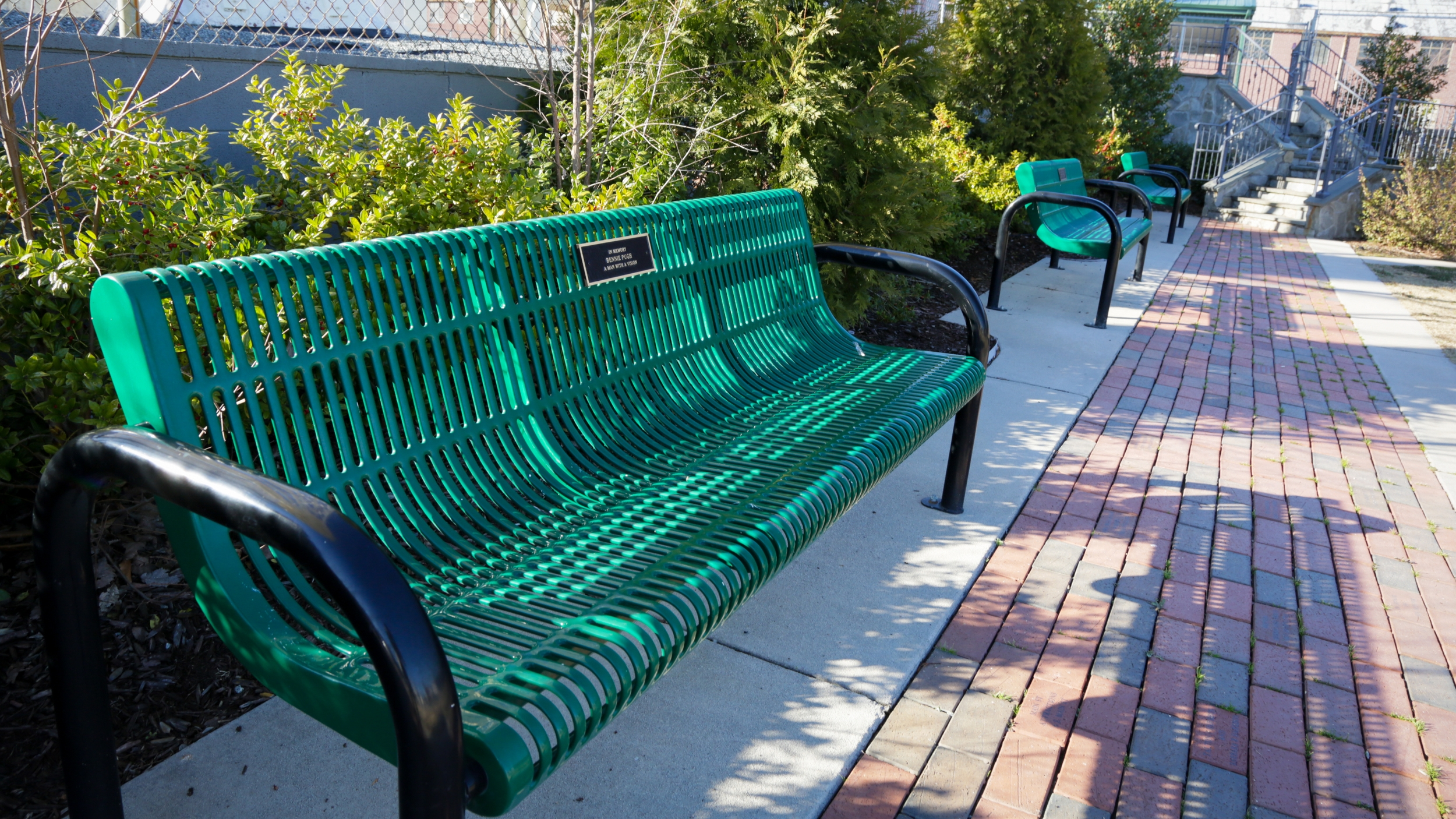 Benches at PACE Park