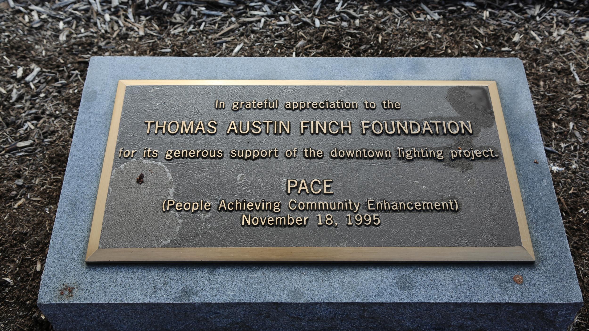 T.A. Finch Foundation honorarium