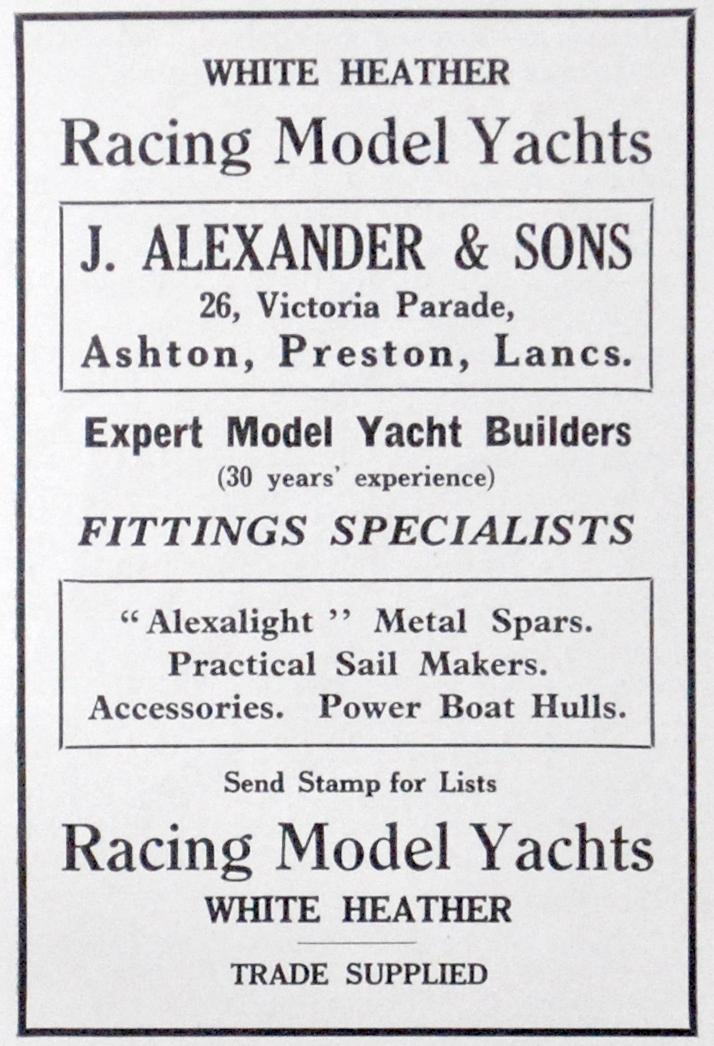 Alexander advert in the 1936 Marine Models.