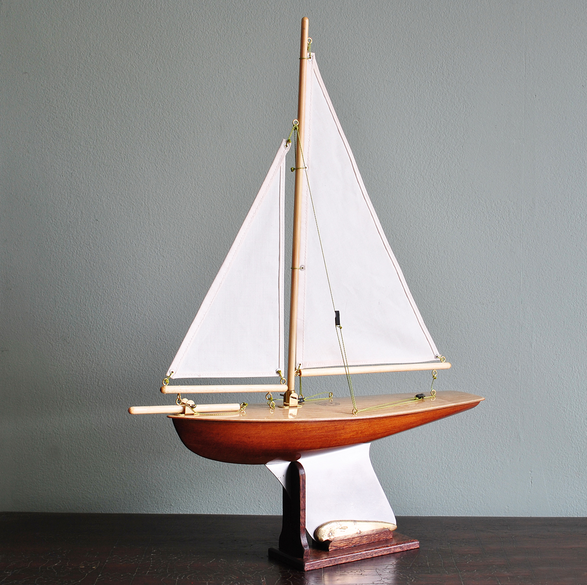 "Out of Stock  ""Hazel"" Natural Red Cedar hull, light birch deck, cambric cotton sails"