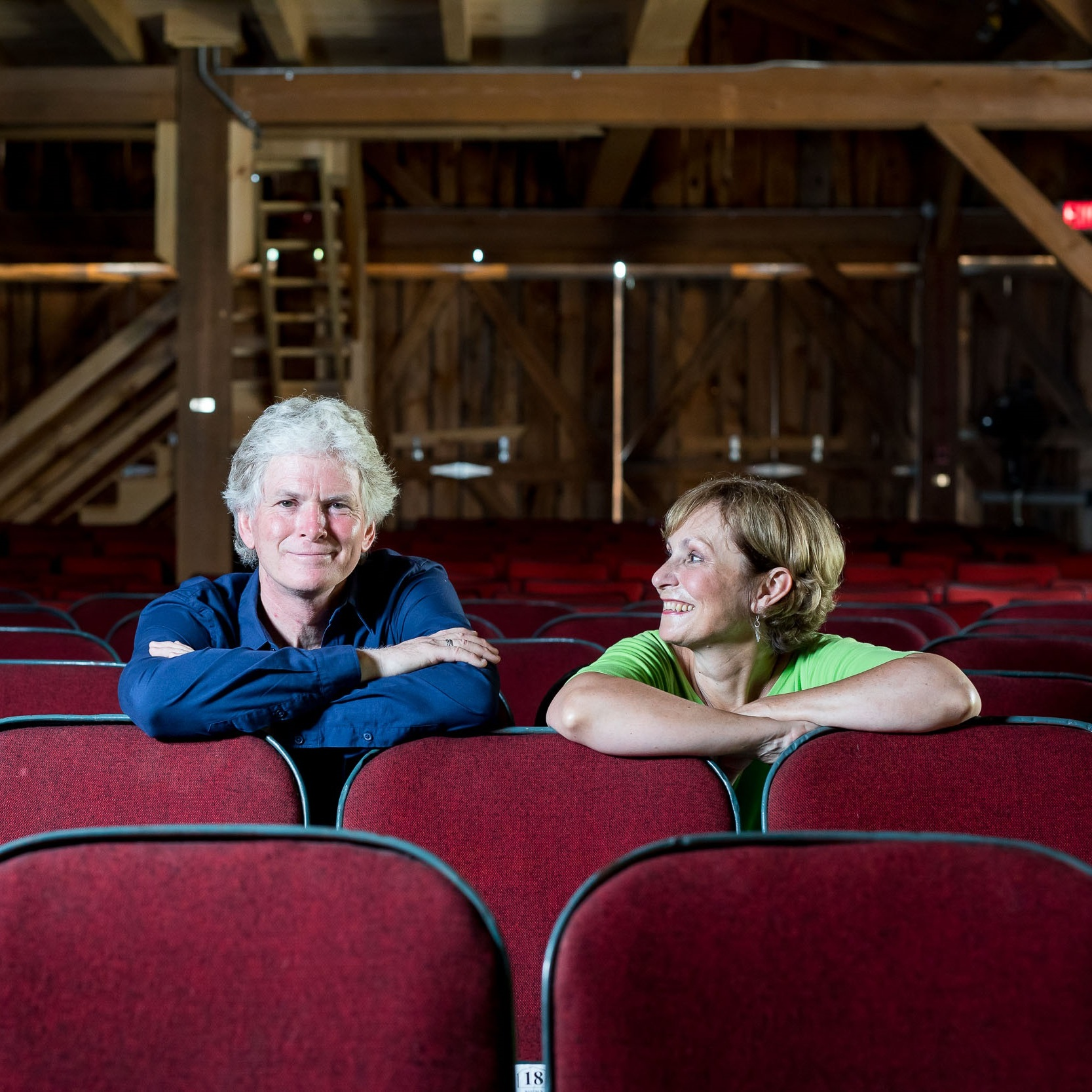Donna and Brian sitting in Barn seats.jpg