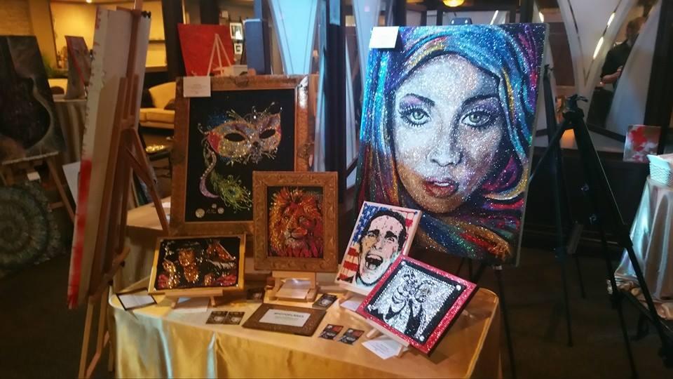 Alexandria Karakis cool glitter paintings