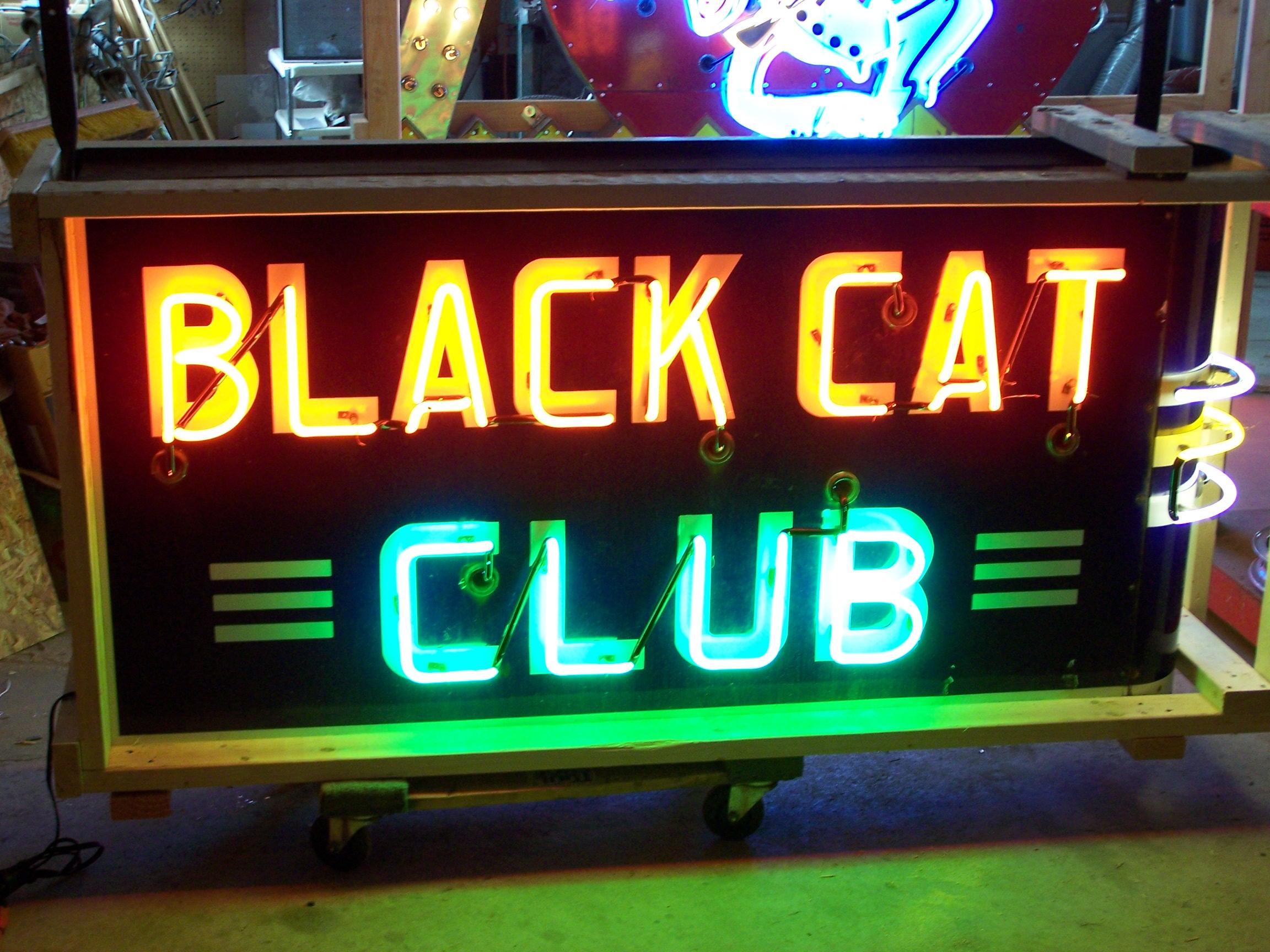Black Cat Club - Neon & Porcelain