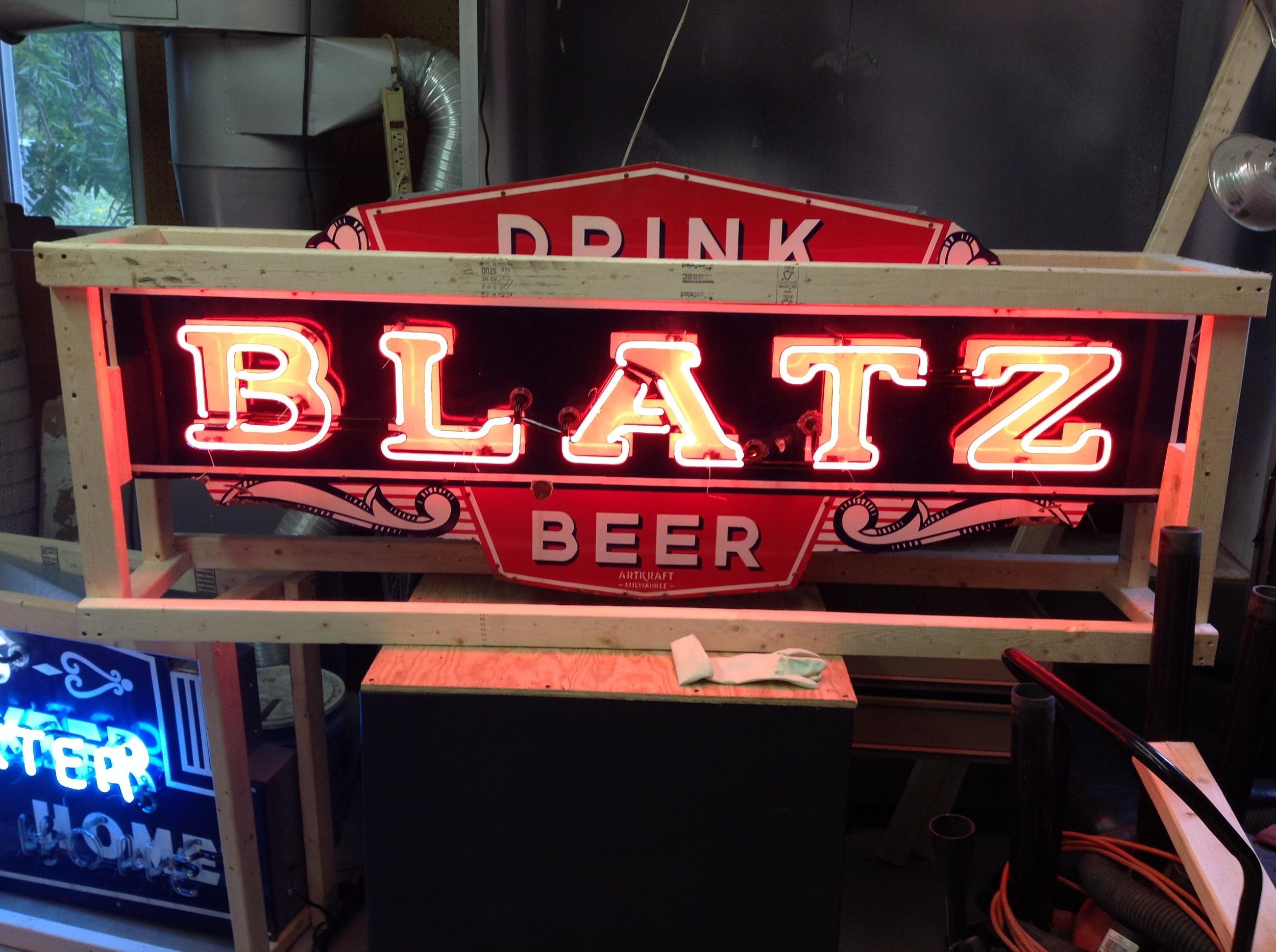 Drink Blatz Beer - Neon & Porcelain