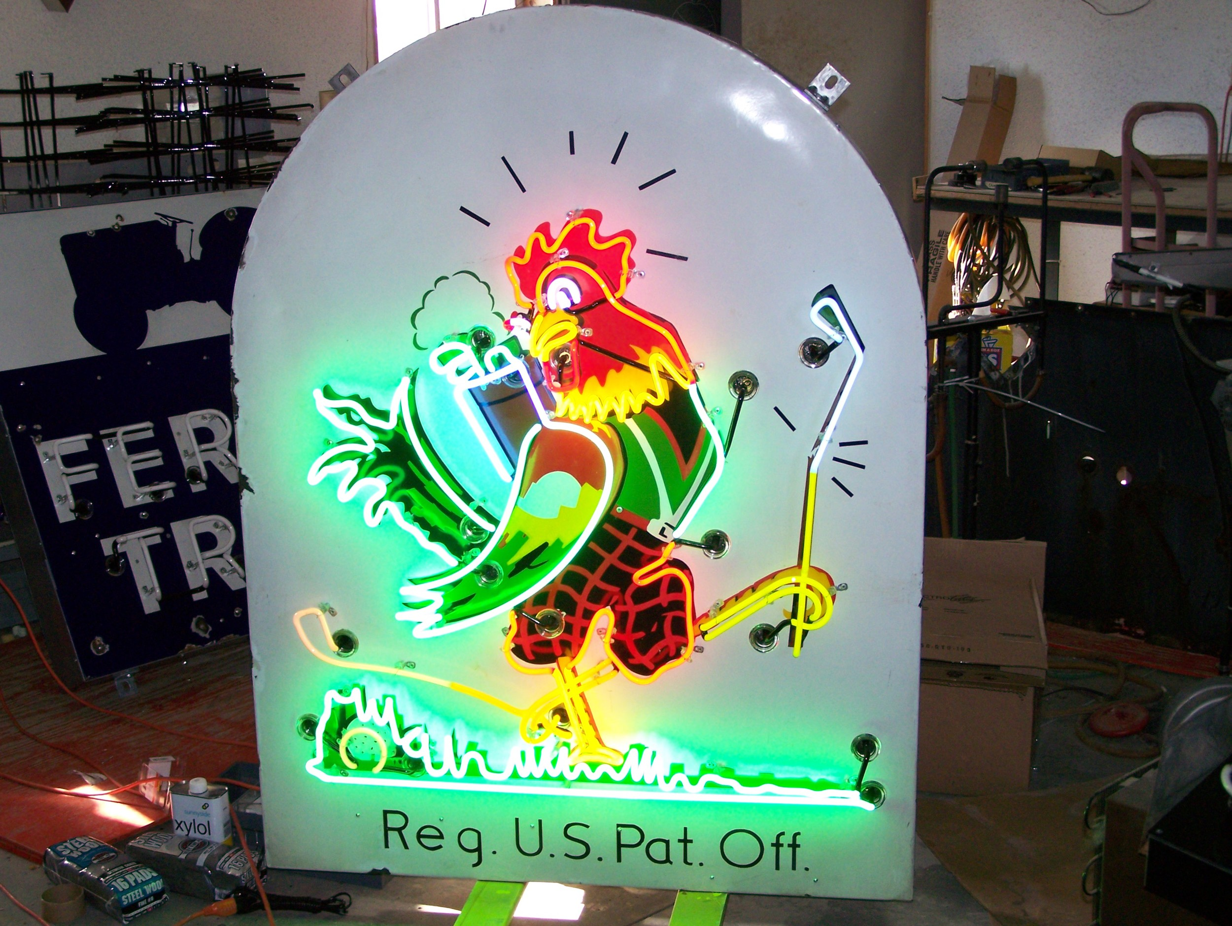 Chicken in the Rough - Neon and Porcelain