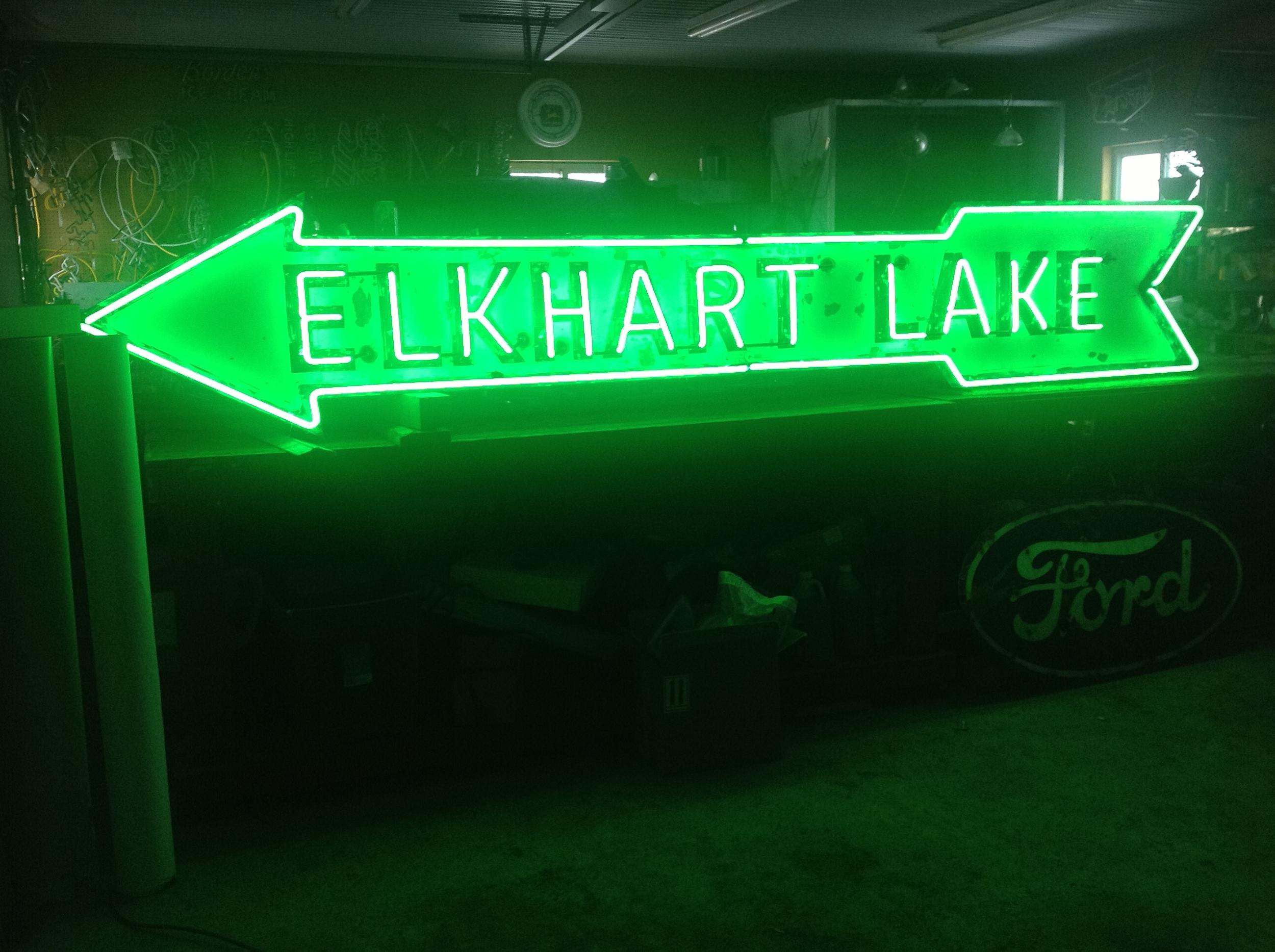 Elkhart Lake Arrow - Neon & Porcelain