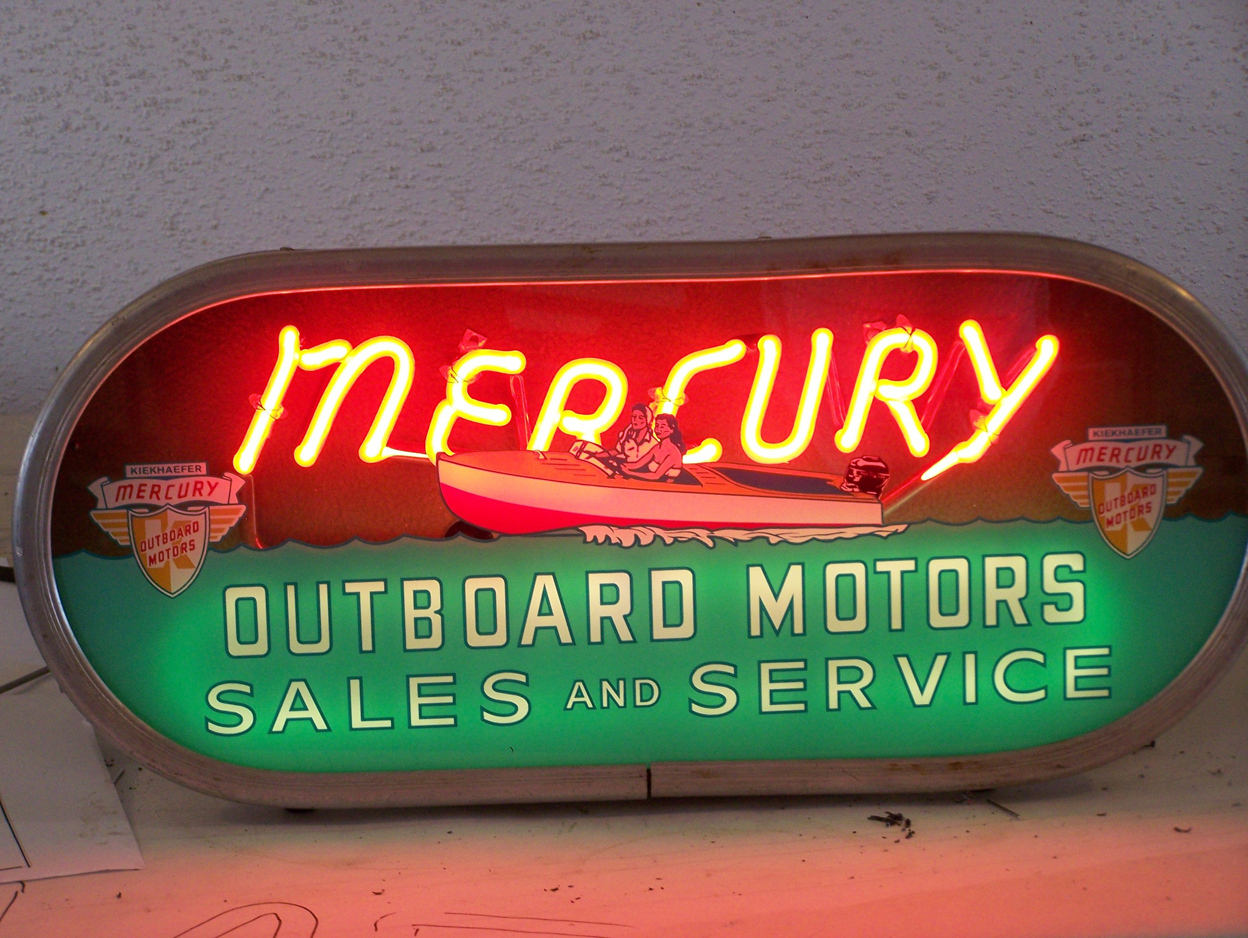 Mercury Outboard Motors - Neon & Reverse Glass Graphics