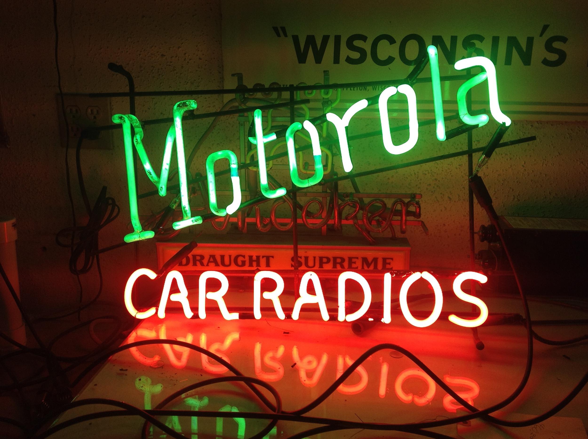 Motorola Car Radios - Neon
