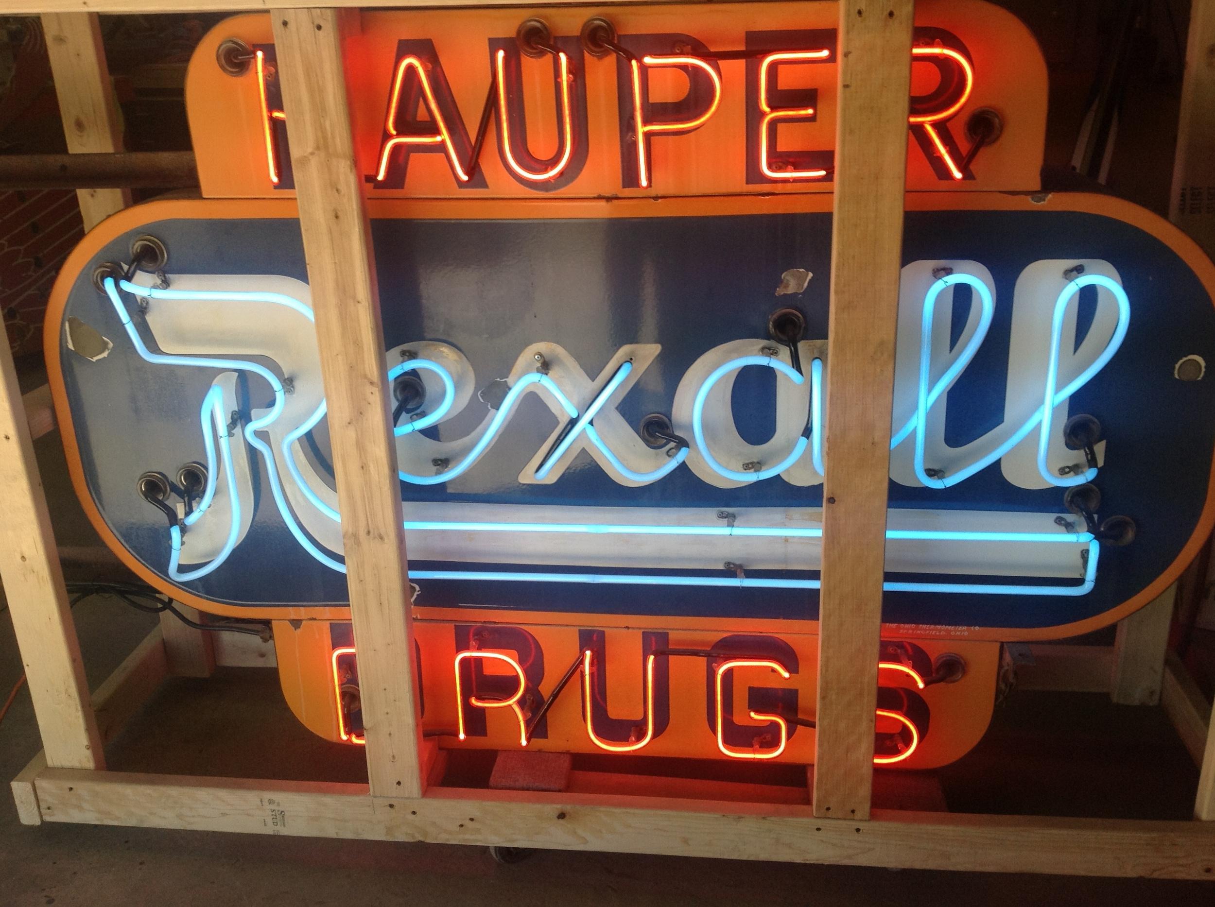 Rexall Hauper Drugs - Neon & Porcelain