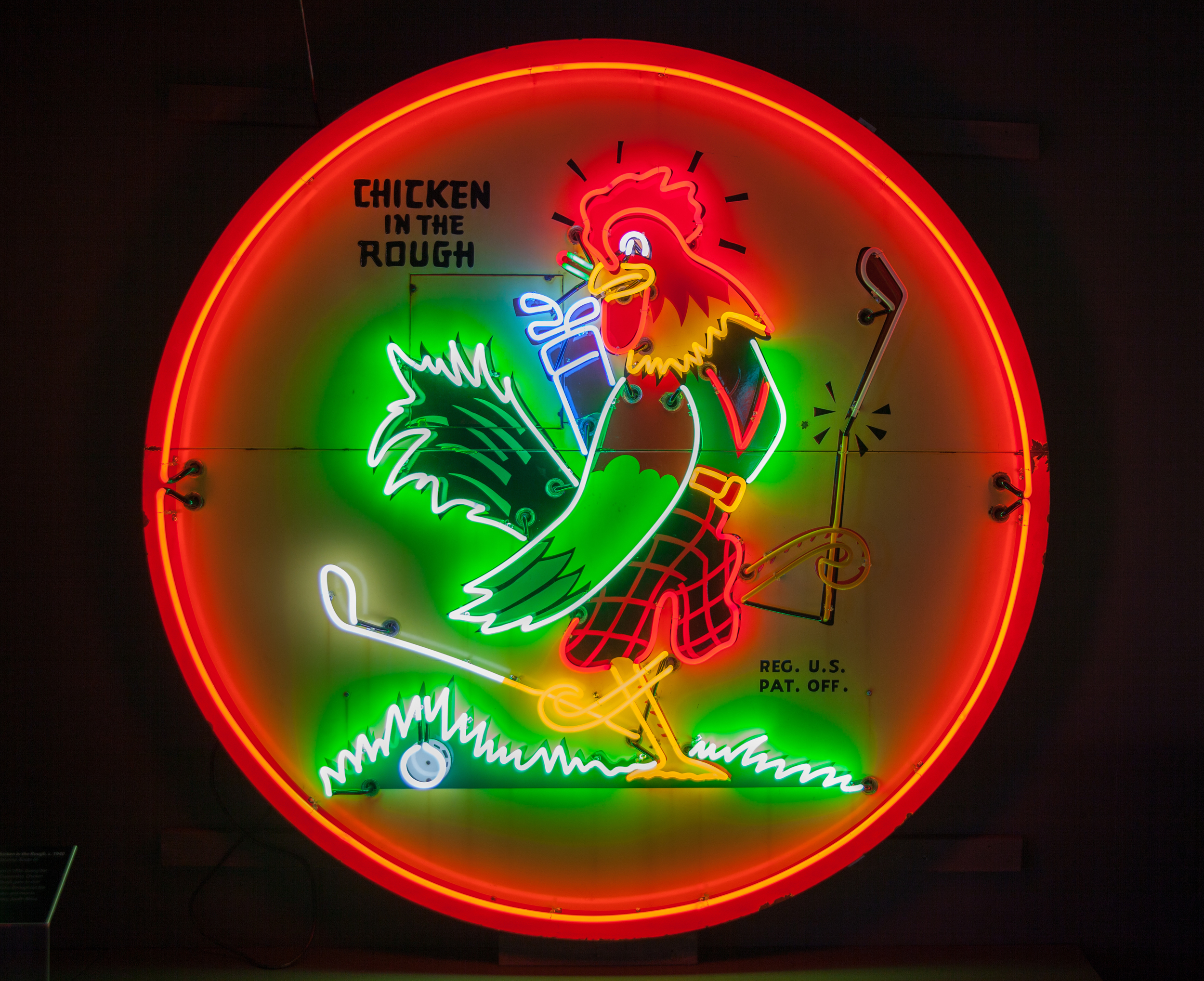 Chicken in the Rough Neon and Porcelain Enamel Sign.