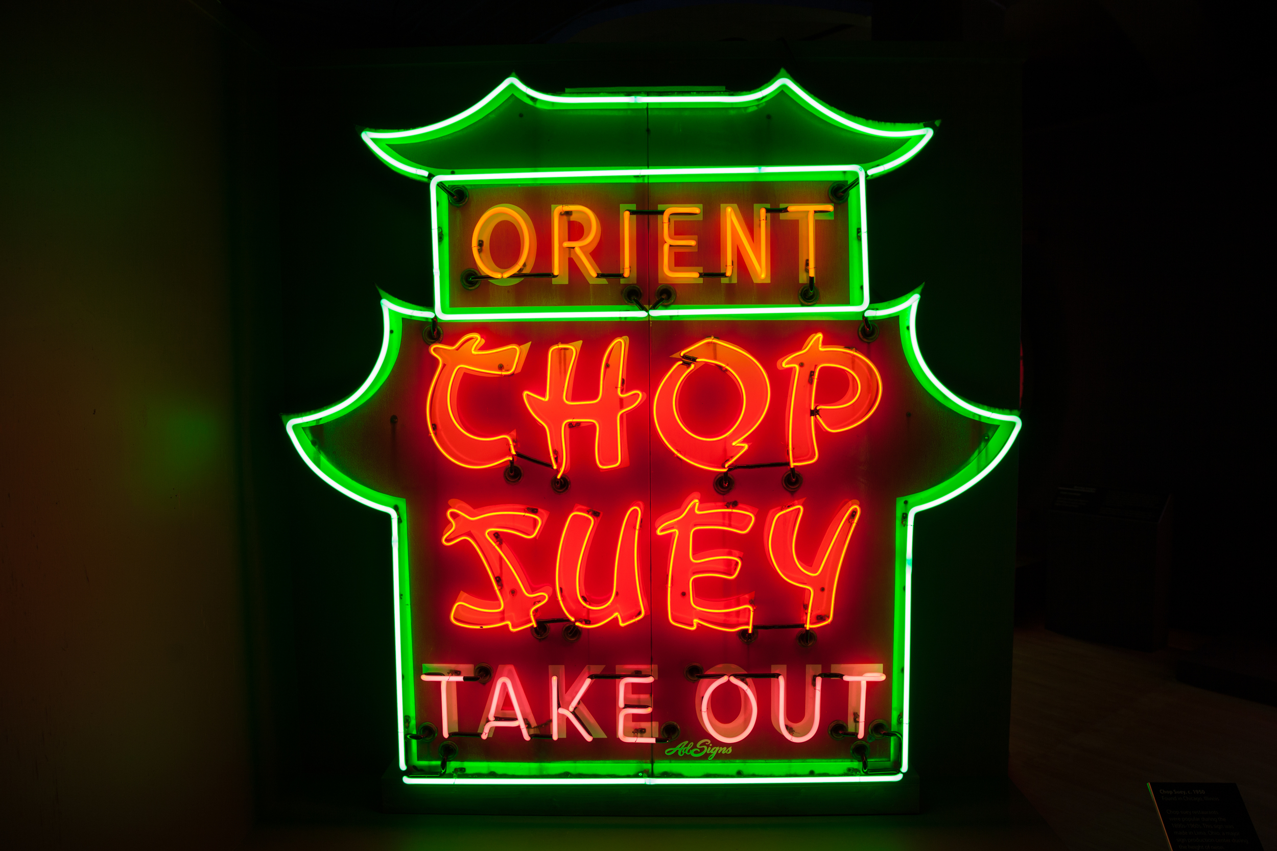 Orient Chop Suey Take Out Neon Sign.