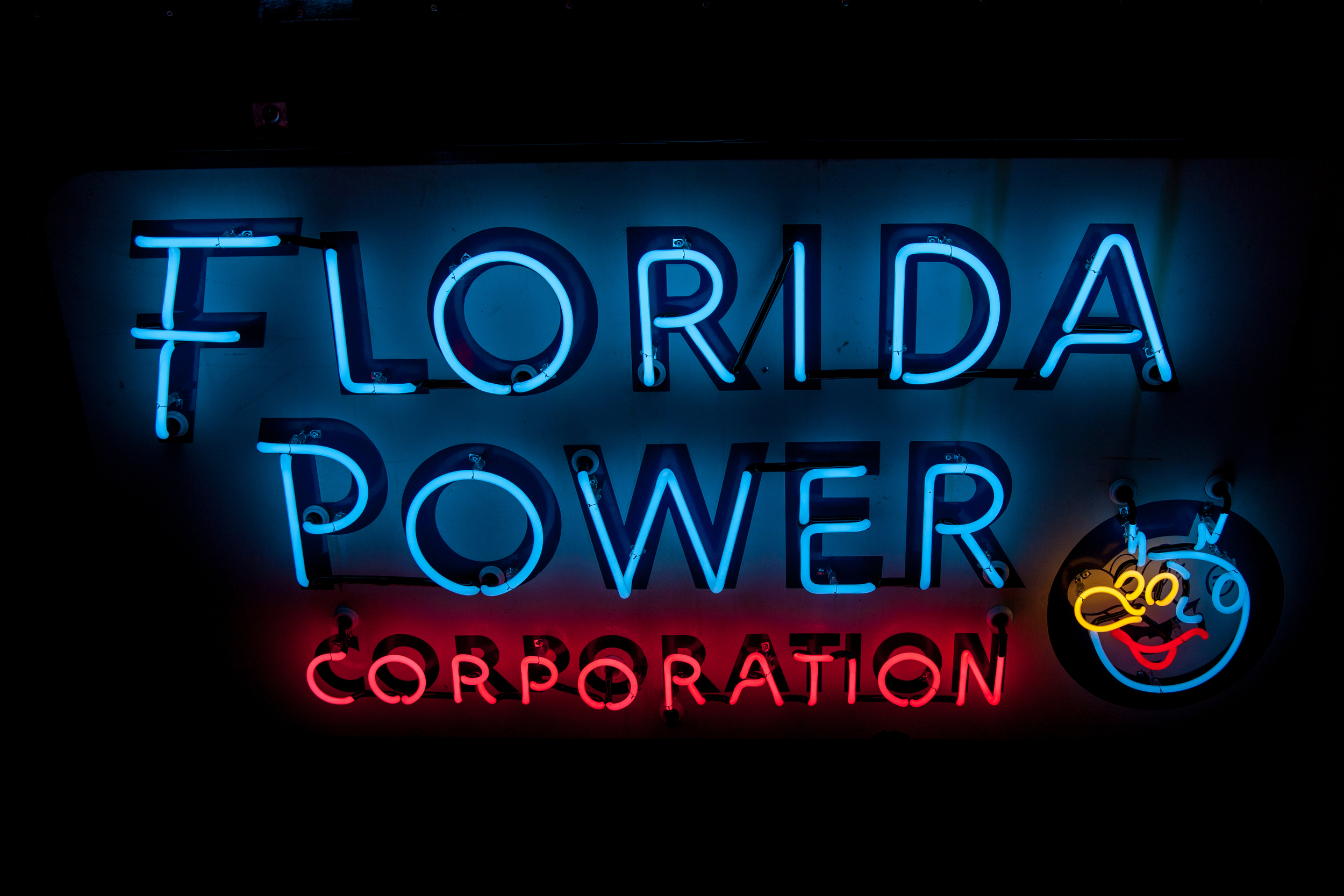 Florida Power Corporation Neon and Porcelain Enamel Sign