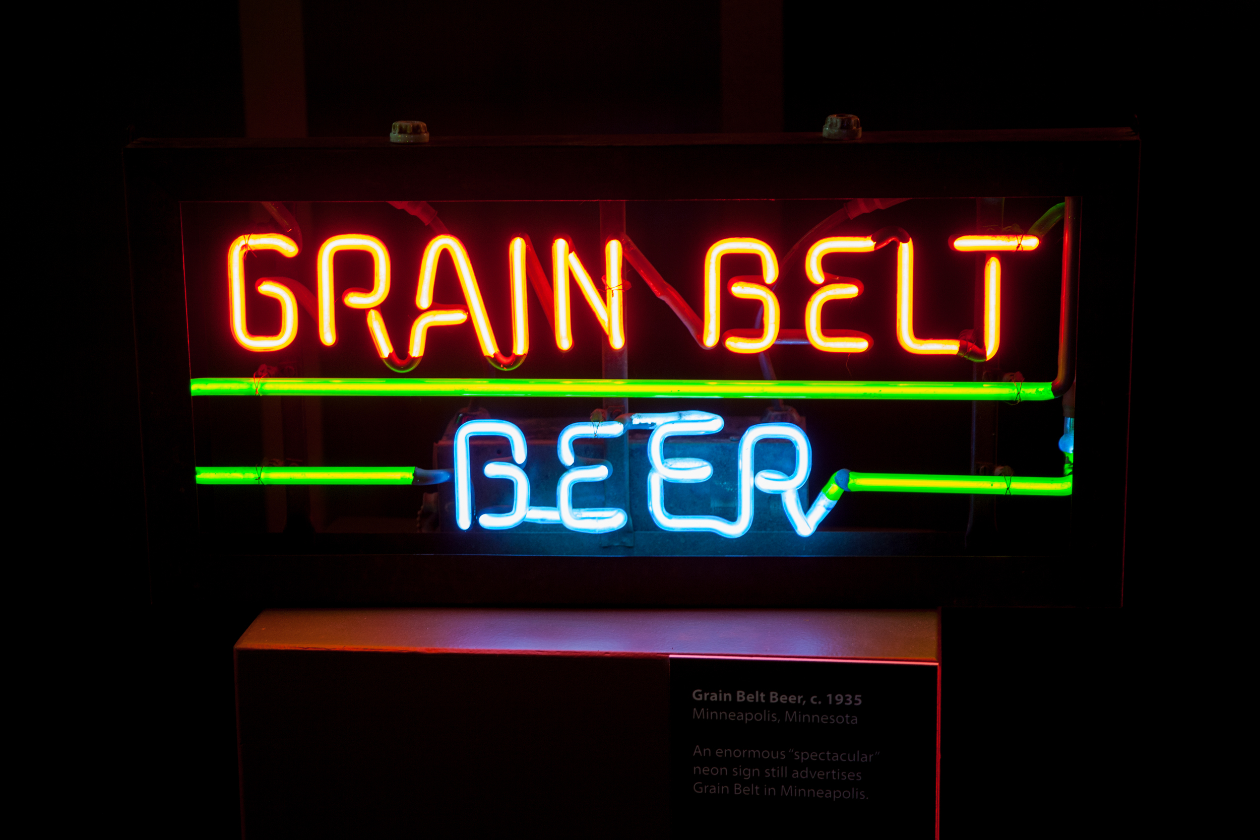 Grain Belt Neon Sign