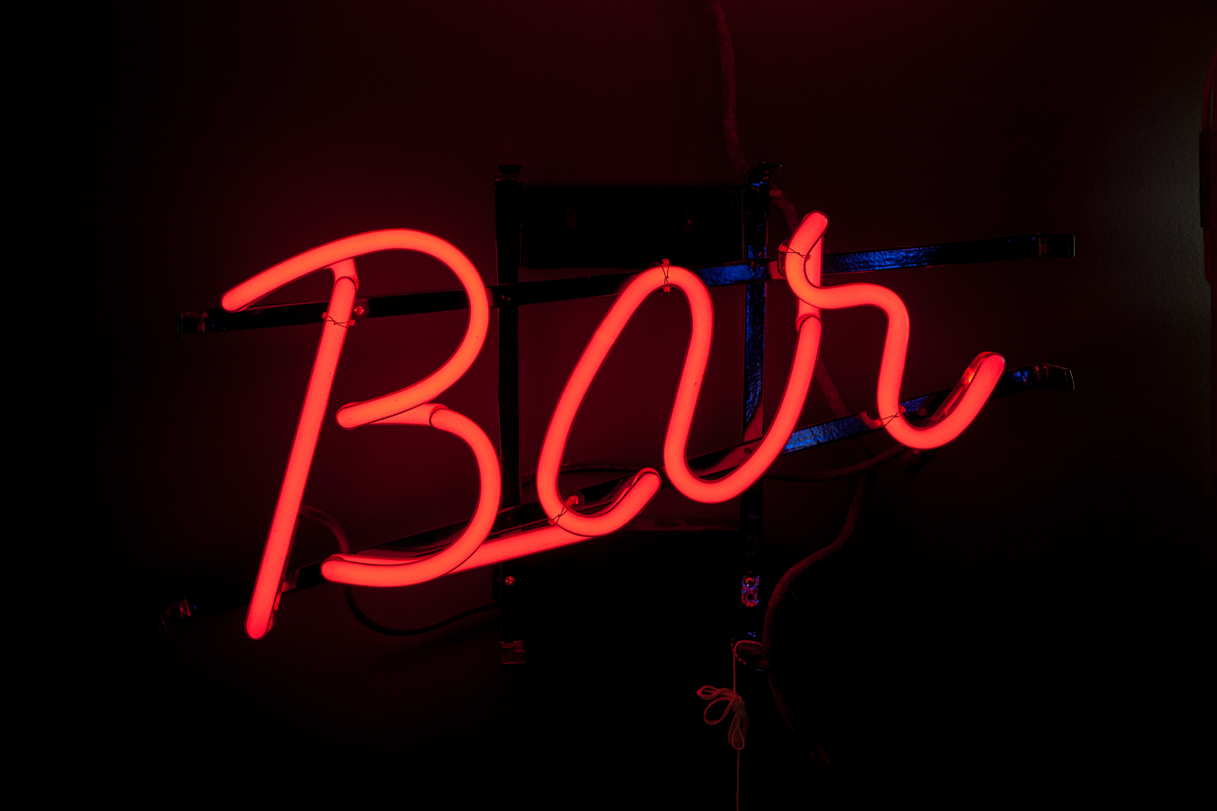 "Neon ""Bar"" Sign from Germany."