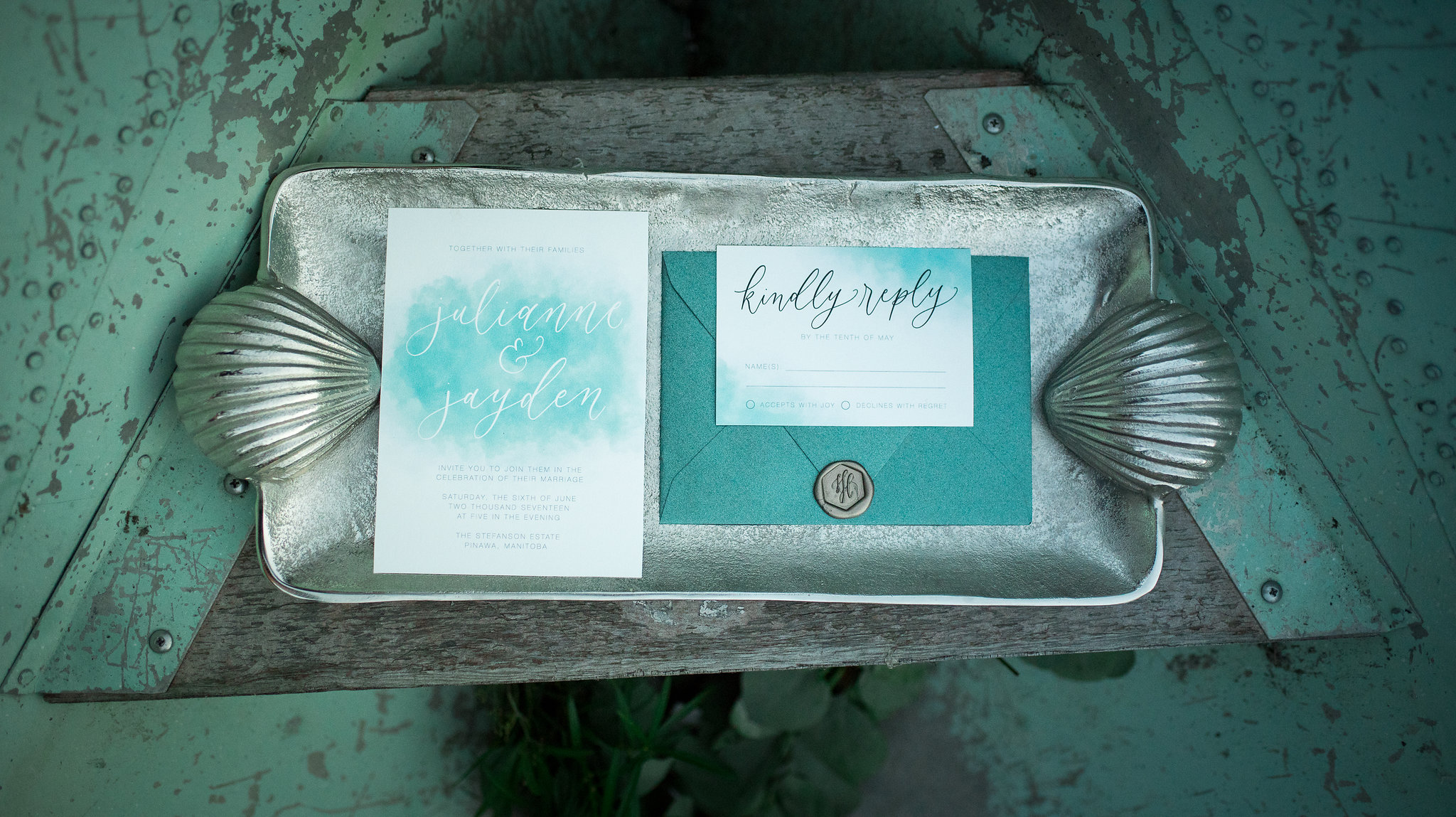 Mermaid Inspired Wedding Styled Shoot - Calligraphy and Stationery by Jennifer Bianca Calligraphy