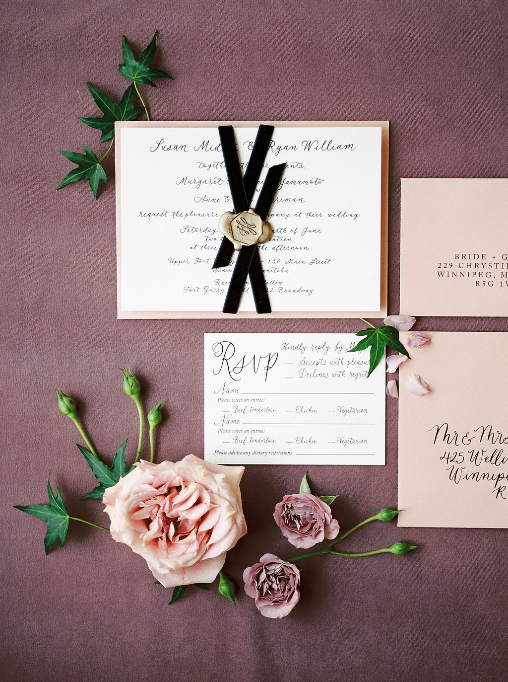 White Tail Meadow Editorial with calligraphy by Jennifer Bianca Calligraphy