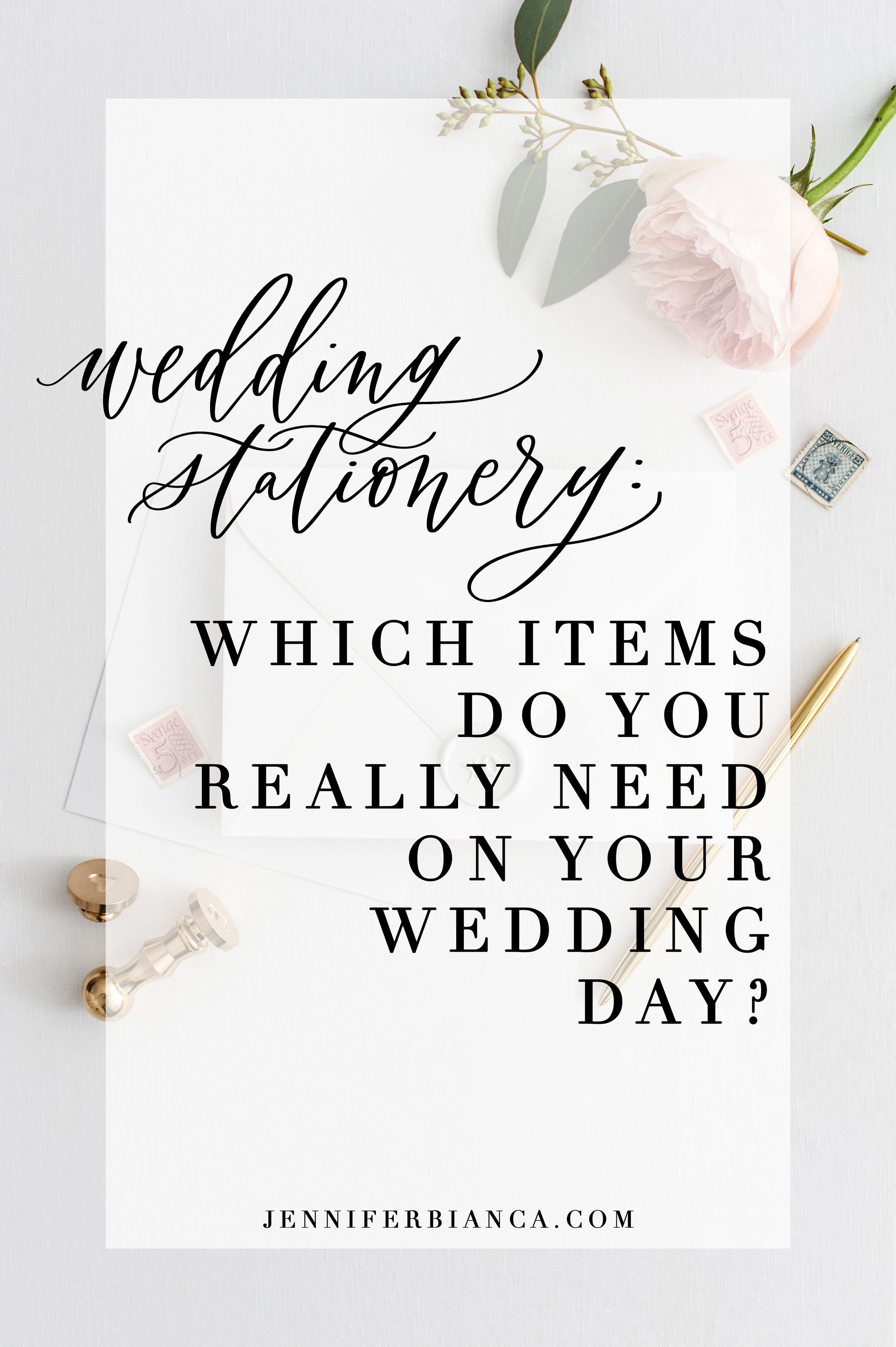 Wedding stationery: What items do you really need on your wedding day?
