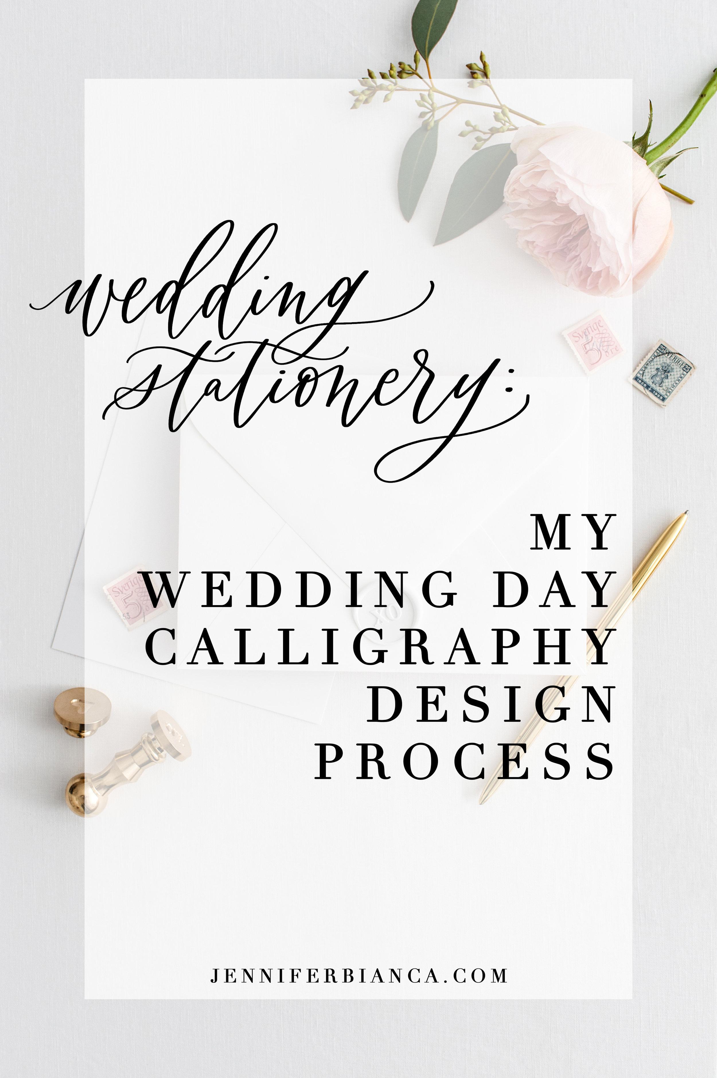 Wedding day of design process. Jenniferbianca.com