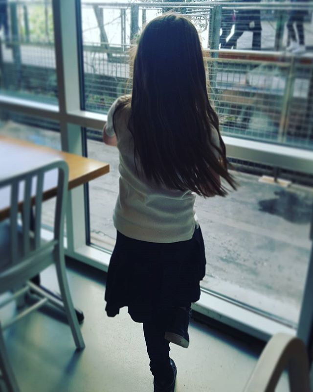 Tree pose break with a High Line view  #mindfulnessforkids #mindfulmoments #wholistictutoring