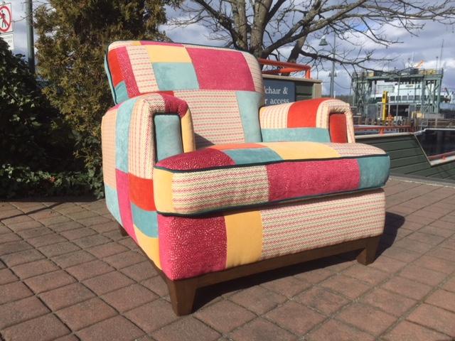 custom patchwork overstuffed chair.JPG