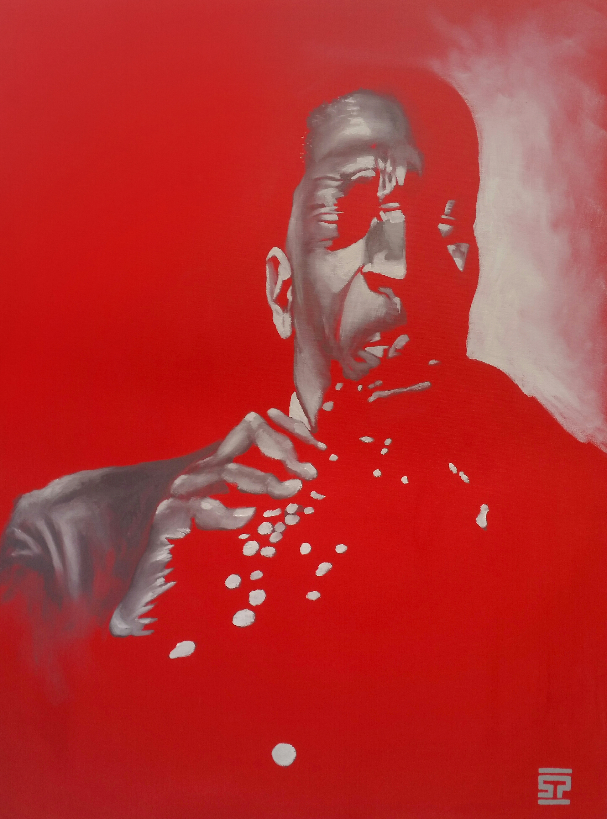 "Coltrane - 30""x40"", oil and acrylic on canvas"
