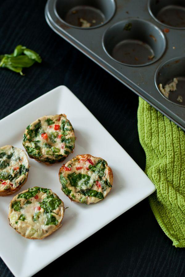 Mini Egg-White Vegetable Frittata