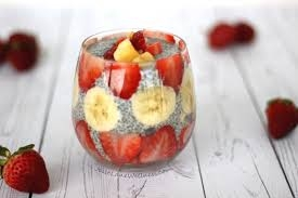 Strawberry Banana Chia Seed Pudding