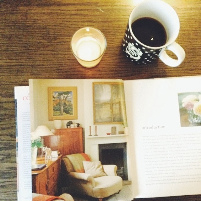 Reading + Coffee on a snow day