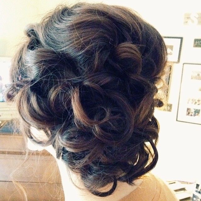 Steph's beautiful updo