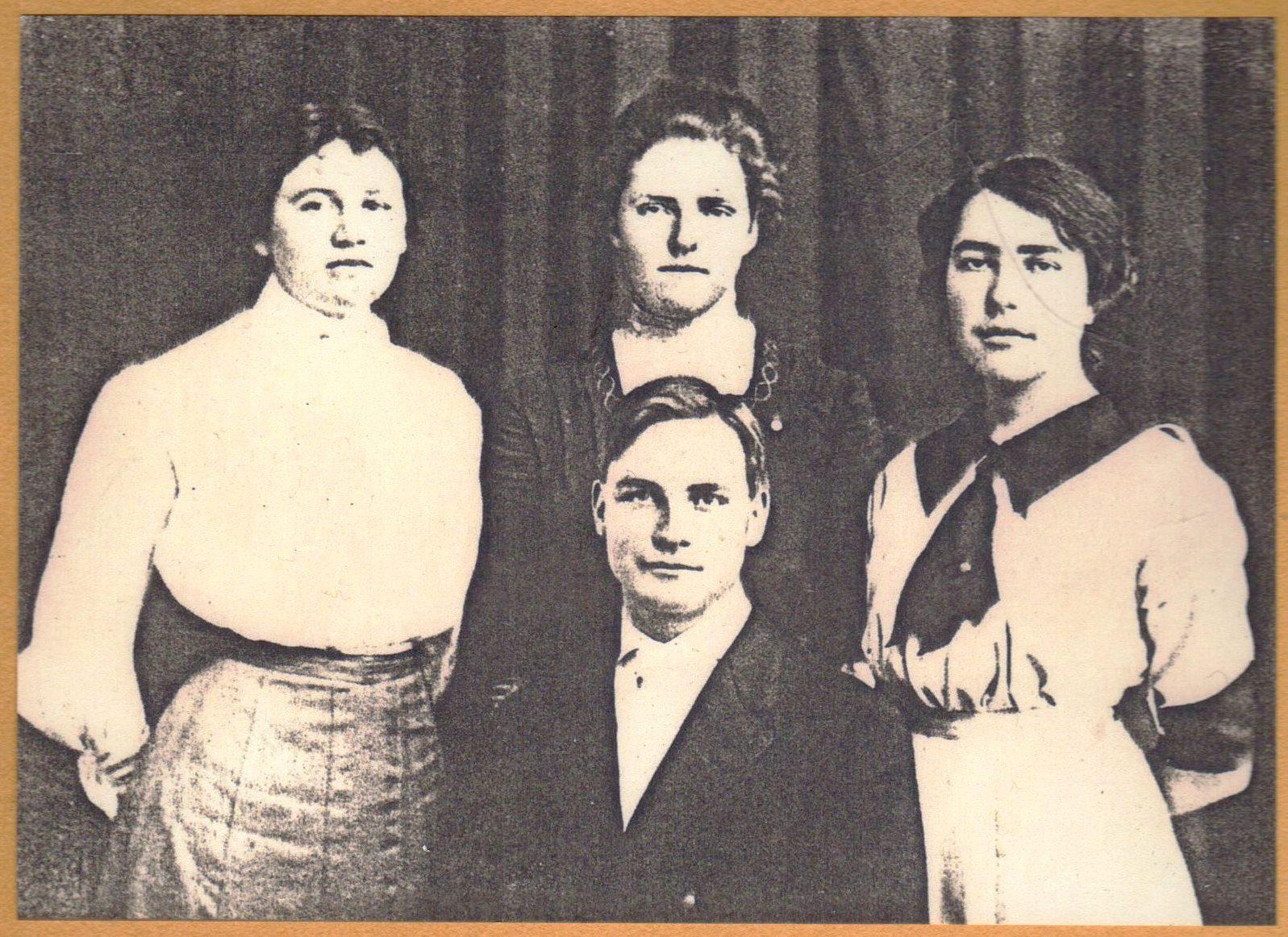 Mabel Arthur, Mary Cummings, Sarah King and Albert Wicklund.